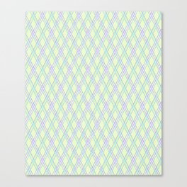 Gently green checkered pattern. Canvas Print