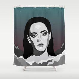 Mountain Girl Shower Curtain