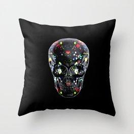 Super Cool Artsy Skull Throw Pillow