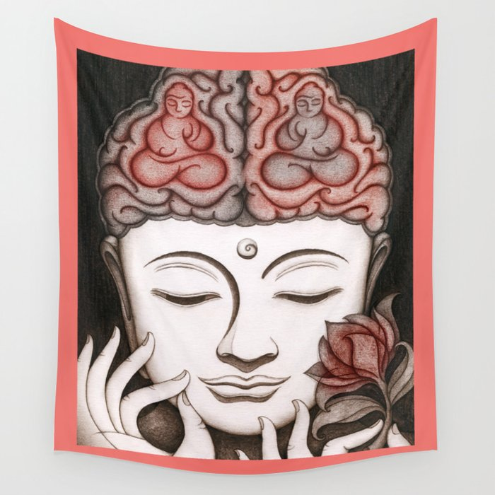 How meditation changes your brain... and makes you wiser? Wall Tapestry