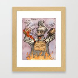 Concoction Chili (The Mad Chef) Framed Art Print