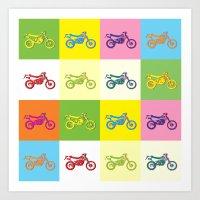 moto Art Prints featuring Moto Cross by Gabi Siebenhühner