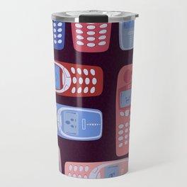 Vintage Cellphone Reactions Travel Mug