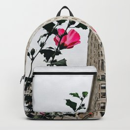 Pink Flowers in New York City (Color) Backpack