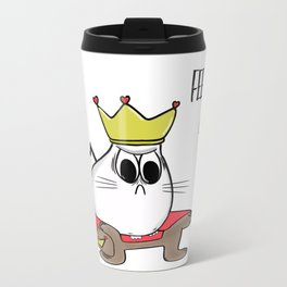 Noodles the Cat thoughts on feeding time Travel Mug