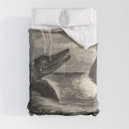 Louis Figuier - Ichthyosaur and Plesiosaur 1863 Comforters