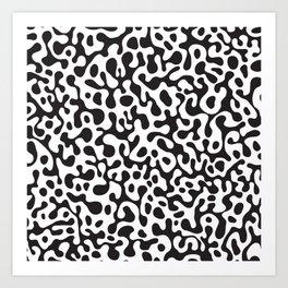 Modern abstract black white animal print Art Print