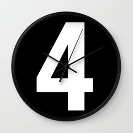 Lucky number: 4 Wall Clock