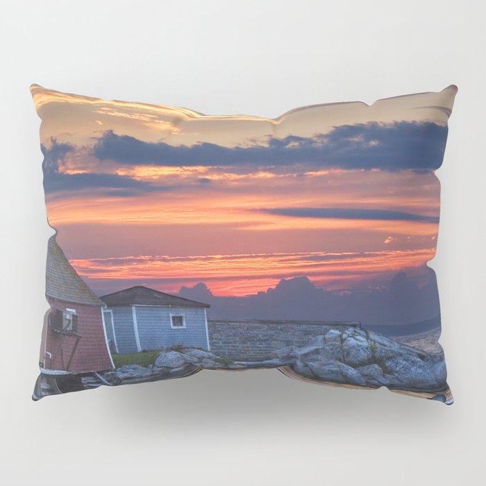 Last Light at Peggy's Cove Harbor Pillow Sham