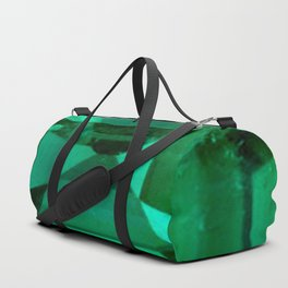 FACETED EMERALD GREEN MAY GEMSTONE Duffle Bag