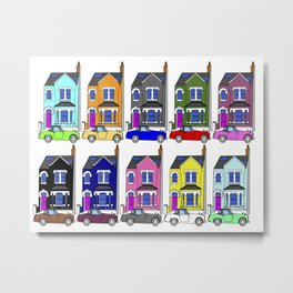 My own Notting Hill / A Victorian House & Retro car Metal Print