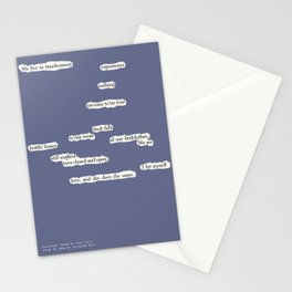 Blackout Poem {015.} Stationery Cards