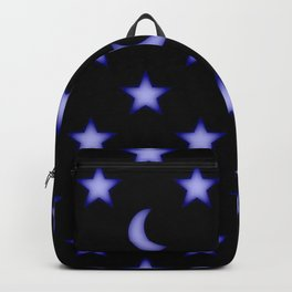 Moons and stars pattern Backpack