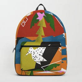 Abstract Geometric Landscape Backpack