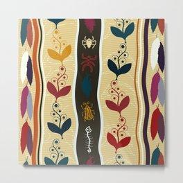 Boho Ethnic Pattern Metal Print