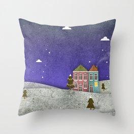 Winter print Throw Pillow