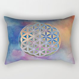 The Flower of Life in the Sky Rectangular Pillow