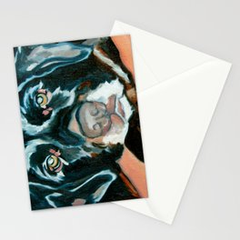 Daisy the Black Lab Dog Portrait Stationery Cards