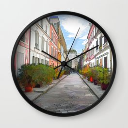 Rue Cremieux in Paris Wall Clock