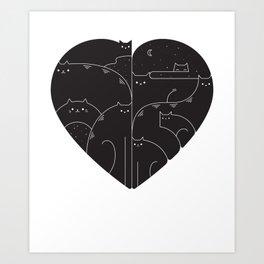 Love cats Art Print