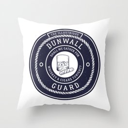 Whiskey & Cigars (Navy) Throw Pillow