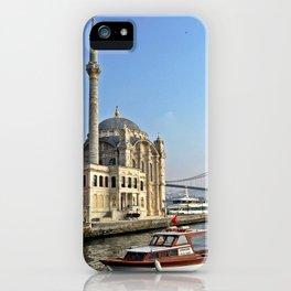 Mosque and Bridge, Istanbul Turkey iPhone Case