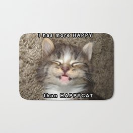 Happy Kitten Bath Mat
