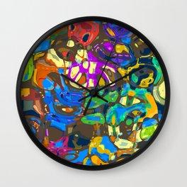 Abstract Mash Up Wall Clock