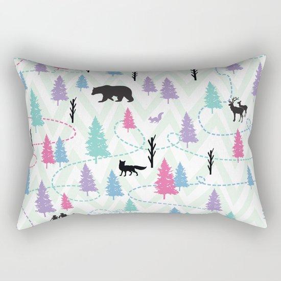 Forest Walk Rectangular Pillow