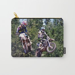 Closing In - Motocross Racers Carry-All Pouch