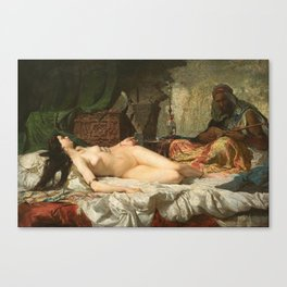 The Odalisque - Fortuny Canvas Print