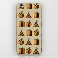 bee iPhone & iPod Skins featuring BEE DIFFERENT by Huebucket