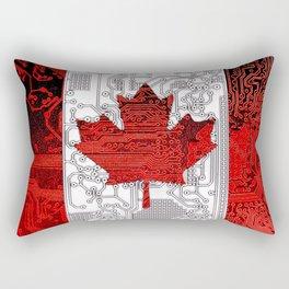 circuit board Canada (Flag) Rectangular Pillow