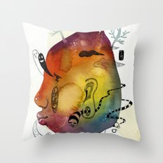 RainBowBow Throw Pillow