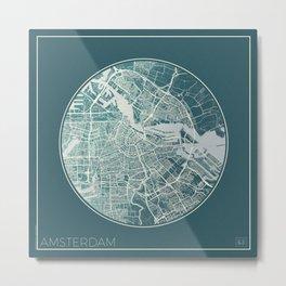 Amsterdam Map Planet Metal Print
