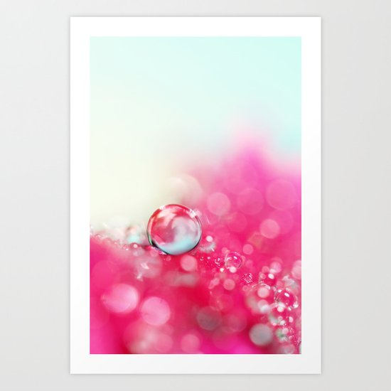 A Drop with Raspberrys and Cream Art Print