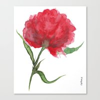 peony Canvas Prints featuring Peony by Gosia&Helena