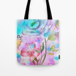 floral alcohol ink painting Tote Bag