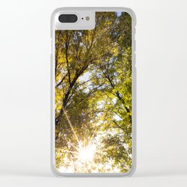 yellow and green leaves Clear iPhone Case