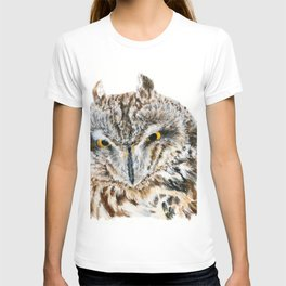 Short-Eared Owl by Teresa Thompson T-shirt