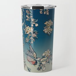 Bullfinch and French Bulldog Cherry Travel Mug