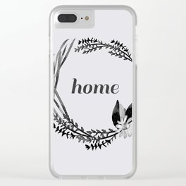 Baesic Mono Floral Home Clear iPhone Case