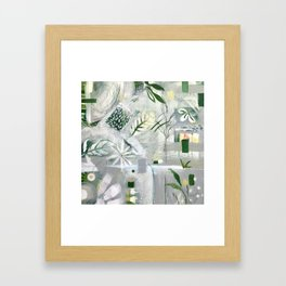 green_pattern Framed Art Print
