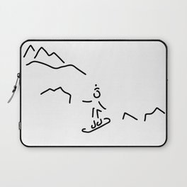 snowboarder skiing winter sports Laptop Sleeve