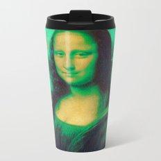 Mona Lisa's Haze (green) Metal Travel Mug