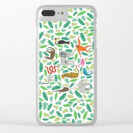 Animals in the Jungle Clear iPhone Case