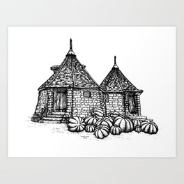 Hagrid's Hut Art Print