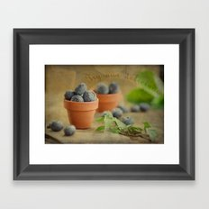 Try our delicious Blueberries Framed Art Print