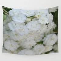 philippines Wall Tapestries featuring Deutzia Pure and Simple by taiche