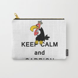 Keep Calm and Carry On Carrion Vulture Buzzard with Crown Meme Carry-All Pouch